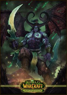 Warcraft - Illidan Stormrage. Digital painting fanart by Brandon Joel Fernandes (www.facebook.com/n3tninja)
