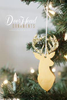 DIY | CLAY deer head ornaments. So cute, lots of color options, easy to make!