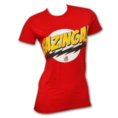 "Big Bang ""Bazinga!"" shirt."