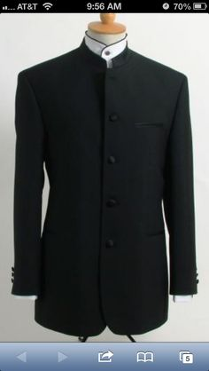 ID# Best crafted professionally Dark color black Online Indian Wedding Outfits ~ Mandarin ~ Nehru Collar Jacket Collarless Style Prom ~ Wedding Groomsmen Tuxedo Suit Light Weight Sof Indian Men Fashion, Mens Fashion Suits, Mens Suits, Sharp Dressed Man, Well Dressed, Black Tie Tuxedo, Tuxedo Suit, Mandarin Collar Jacket, Groomsmen Tuxedos