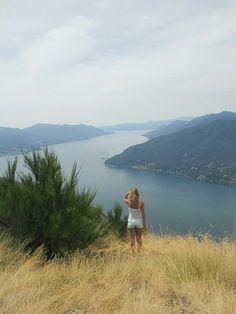 View on the beautiful lake Lago Maggiore, Lake Maggiore, Italy Maccagno~Luino~Canobbio~Cannero