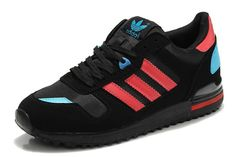 on sale 126a8 100ea Unisex Adidas Originals Zx 700 Negro rojo azul Trainers Casual Zapatos  D65284 venta