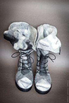 """Снежана Костина. Мастер-класс """"Войлочная обувь с установкой твердой пятки и носка"""""""