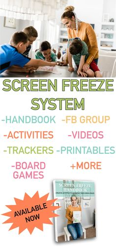 If your child struggles with an addiction to electronics (video games, tablet, phone, etc) - check out this family screen freeze system! It has helped my kids so much and helped our family. It's perfect for summer! Group Activities, Creative Activities, Hands On Activities, Video Game Addiction, Addiction Help, Learning Ability, Boredom Busters, Chapter Books, Social Skills