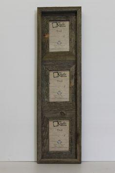 4x6 Rustic Reclaimed Wood Vertical Triple Opening Frame