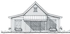 Allison Ramsey Architects | Floorplan for - 450 square foot house plan # G0050