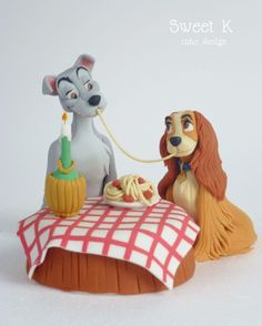 Lady and the Tramp Valentine's day! - Cake by Karla (Sweet K) - CakesDecor
