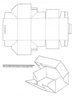 Patrones de cajas de carton gratis - Imagui
