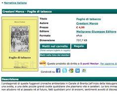 Grazie a Meligrana editore, Foglie di tabacco è oggi anche in versione ePub (abbreviazione di electronic publication). Il formato ePub conse...