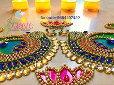 Suave Kundan Rangoli for order Whatsapp us @9560115450