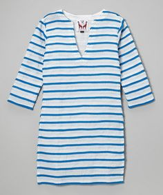 This Blue Pom-Pom Cover-Up - Toddler & Girls by Daisy Laing is perfect! #zulilyfinds