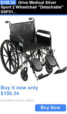 Wheelchairs: Drive Medical Silver Sport 2 Wheelchair Detachable Ssp218dda-Elr New! BUY IT NOW ONLY: $156.34