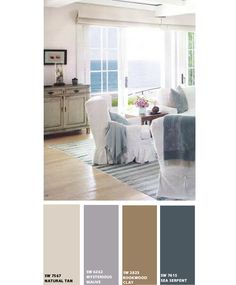 Beach Home Living Room-Paint Colors from Sherwin Williams. I like these even though I don't have a beach home they'd still look nice!