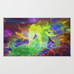 Rainbow Angel 2 Area & Throw Rug by Amelia  Carrie - $28.00