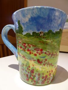 Hand painted ceramics by Pam Smith : My first firing of the new year. Hand Painted Ceramics, Will Smith, Mugs, Tableware, Painting, Hand Painted Pottery, Dinnerware, Tablewares, Painting Art