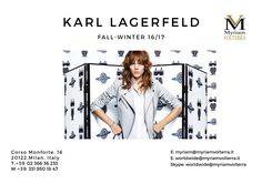 KARL LAGERFELD FALL WINTER 16/17 WOMEN READY-TO WEAR available for a pre order at Myriam Volterra Luxury Buying Office! Contact us by phone, email, Skype or visit our office in Milan and we provide you with all the necessary information!