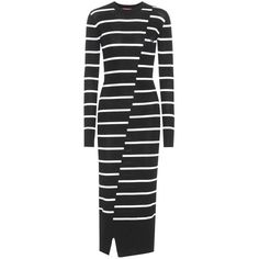 McQ Alexander McQueen Wool Sweater Dress ($390) ❤ liked on Polyvore featuring dresses, black, wool dress, mcq by alexander mcqueen, wool sweater dress, woolen dress and sweater dress