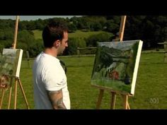▶ The Forger's Masterclass - Ep.10 - Paul Cézanne - YouTube---dump coffee on painting to age it