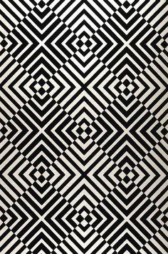 Nirvana | Papel de parede geométrico | Padrões de papel de parede | Papel de parede dos anos 70