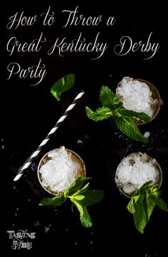 great Kentucky derby party; via tasting table.