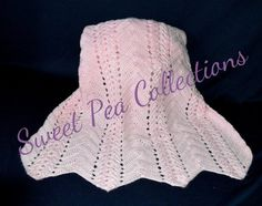 Pink Crochet Baby Blanket Ripple Baby by sweetpeacollections