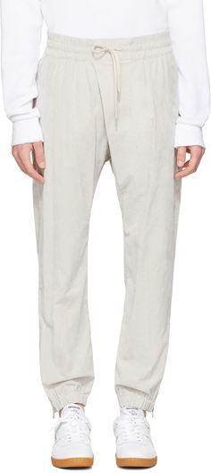 HELMUT LANG Grey Overlap Jogger Pants. #helmutlang #cloth #pants