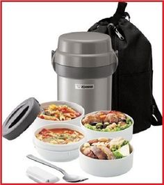 Zojirushi Bento Stainless Lunch Jar Thermo Insulated Silver Food Storage Contain #Zojirushi #camping #travel # roadtrip #road #trip #container #foodcontainer #mom #dad #children