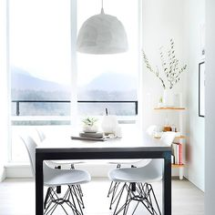 Fern Street Condo | Designer @shift_interiors | Photographer @tracey_ayton | Can you imagine waking up to this view everyday. Each room in the new 16th floor North Vancouver condo over sees the mountains - stunning.