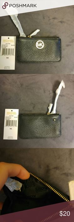 Michael Kors Key Pouch- Price Firm NWT MK black key pouch with gold hardware. Holds 10 cards comfortably. No holds or trades. Michael Kors Accessories Key & Card Holders