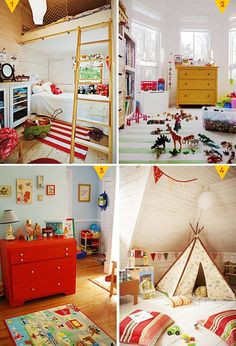 retro Boys room ideas-i like the striped rug