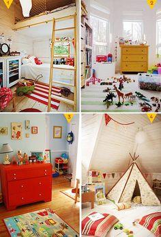 retro Boys room ideas-i like the striped rug