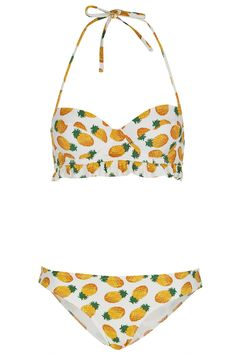 White Pineapple Bikini - Swimwear - Clothing - Topshop Europe