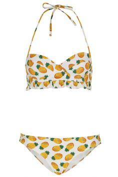 White Pineapple Bikini - Swimwear - Clothing - Topshop Europe