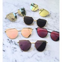 Sale! Cat Eye Aviator Sunglasses. This listing is for a pair of Cat Eye aviator sunshades. Rose Gold Mirrored Sunglasses. Retro. Sunglasses. Wire sunglasses. Trending sunglasses. Available in: Rose Go