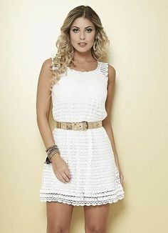 White crochet dress with diagram