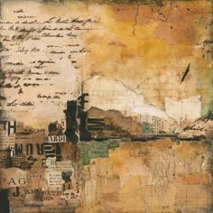 Available for sale from Stremmel Gallery, Louise Forbush, Crossings, Collage on wood panel, 12 × 12 in Paper Collage Art, Collage Art Mixed Media, Paper Art, Mixed Media Photography, Life Photography, Encaustic Painting, Claude Monet, Art Journal Inspiration, Pablo Picasso