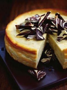 White chocolate Baileys cheesecake, made it on my birthday last year everyone loved it!