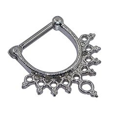 D&Min Jewelry 1pc 316L Stainless Steel Septum Clicker - Chic Nose Cuff Hoop Bull Ring 14g D&Min Jewelry http://www.amazon.co.uk/dp/B017QQWY5O/ref=cm_sw_r_pi_dp_H5lFwb0YXZGJB
