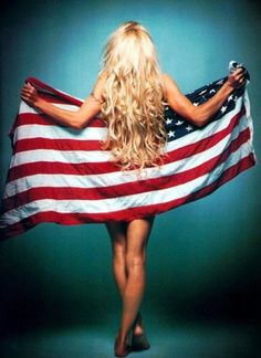 American flag girl but with my husbands NFL team