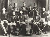 Ice Hockey - The first Stanley Cup champions, 1893 - The origin of ice hockey is unknown, however, ice hockey probaly evolved from the game of field hockey that has been played in Northern Europe for centuries.  The rules of modern ice hockey were devised by Canadian J G A Creighton. In 1875, the first game of ice hockey with Creighton's rules was played in Montreal, Canada.