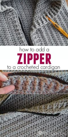 The most professional way to add a zipper to your crocheted cardigan. #cardigan #crochet #freecrochetpatterns