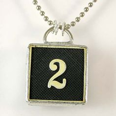 Number 2 Pendant Necklace by XOHandworks $20