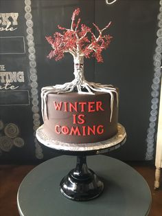 Winter is Coming! Game of Thrones Party Cake Sugar Bee Sweets Bakery  www.sugarbeesweets.com Bolo Game Of Thrones, Game Of Thrones Party, Winter Is Coming, Party Cakes, Christmas Bulbs, Bakery, Bee, Sweets, Sugar