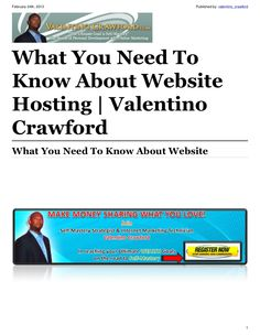 what-you-need-to-know-about-website-hosting by Valentino Crawford via Slideshare