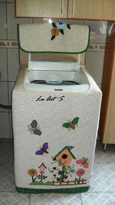 Sewing Projects Sewing Crafts Diy Crafts Appliance Covers Felt Food Washer And Dryer Covers Applique Designs Kitchen Towels Diy Embroidery Sewing Hacks, Sewing Crafts, Sewing Projects, Washer And Dryer Covers, Fridge Handle Covers, Washing Machine Cover, Appliance Covers, Diy Embroidery, Applique Designs