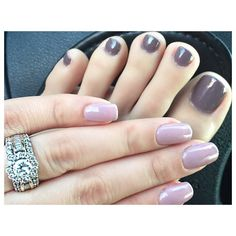"""Mani/Pedi ✨ On my nails I'm wearing the color ""Always & Forever"" by Perfect Match Gel polish. It's hard to capture this color. In the daytime it looks…"""
