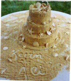 """sand cake""... using graham cracker crumbs or vanilla oreos"