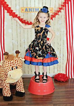 Girls Party Dress  Girls Fancy Dresses  Circus by PinkMouseKids