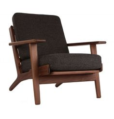 Replica Hans Wegner Plank Armchair - Oak/Walnut