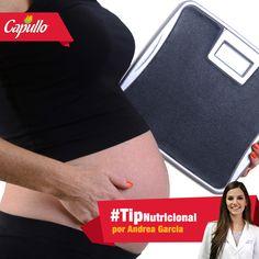#TipParaMamá, la ganancia de peso en el embarazo está relacionada con la salud del bebé. Es por eso que debemos mantener ese peso en un rango saludable. La ganancia de peso ideal para mujeres de peso y estatura promedio es de 25 a 40 libras.